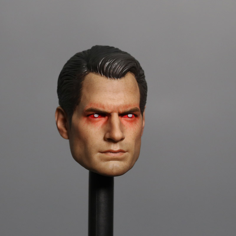 Mnotht 1/6 Batman v Superman Head Sculpt Henry Cavill Headplay Red Painted Laser Eye For 12in Action Figures L30 brand new 1 6 scale head sculpt man of steel superman clark kent henry cavill head sculpt for 12 action figure model toy