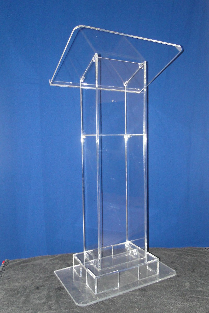 Free Shipping Approved Clear Modern Acrylic Actress / Beautiful Church Pulpit