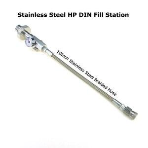 Image 2 - Pistola de aire de Paintball Airsoft PCP, estación de llenado de acero inoxidable, adaptador de carga DIN G5/8 con manguera de alta presión de 24 pulgadas, novedad