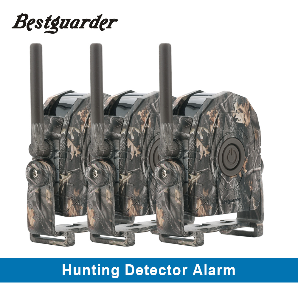 Bestguarder Wireless cordless security hunting alarm system sound Vibration LED light for hunter animal approaching alarm system