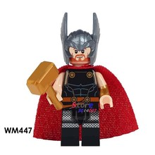 1PCS model building blocks action figures starwars superheroes Thor house classic learning Dolls diy toys for children gift(China)