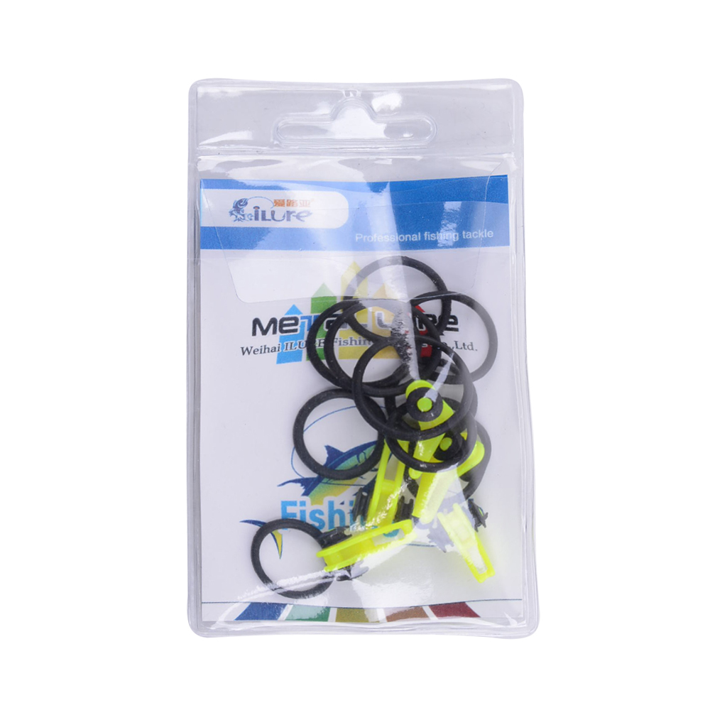 10 pcs bag Plastic Fishing Rod Pole Hook Keeper for Lockt Bait Bucket Height Safety Holder fishing tackle Accessories Pesca in Fishing Tools from Sports Entertainment