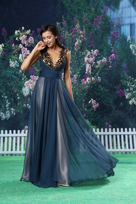 V-neck Sheer Grey Appliques Tull Long   Bridesmaid     Dresses   2018 Wedding Party   Dress   robe demoiselle d'honneu Colourful