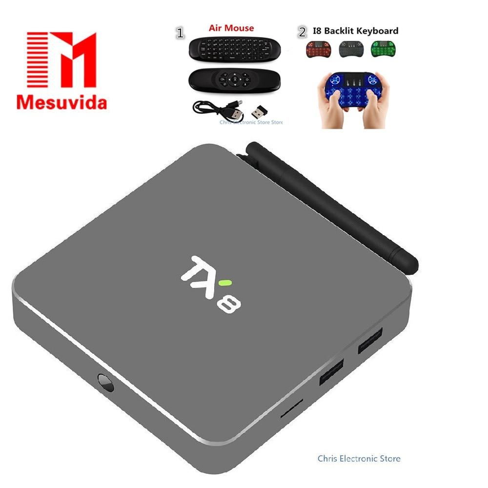 Mesuvida TX8 Android 6 0 TV Box with Amlogic S912 Octa Core Dual Band WiFi 2