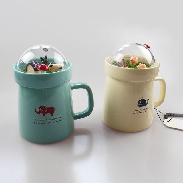 Creative Animal Landscape Ceramic Cup 4