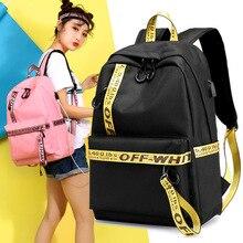 New Women Backpack USB Charging Backpacks School Bags For Teenagers Girl Laptop Backpack mochila feminina Casual travel backpack