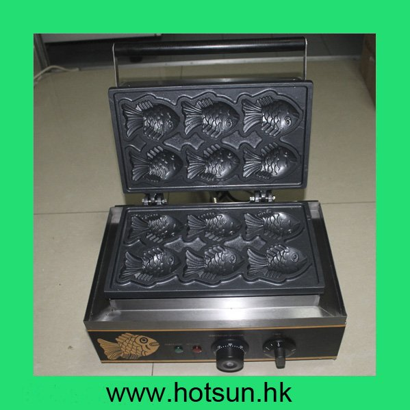 Commercial Non-stick 110V 220V Electric Korean Taiyaki Fish Waffle Iron Maker Baker Machine free shipping commercial electric taiyaki korean poop bread waffle maker iron machine