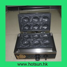 Commercial Non-stick 110V 220V Electric Korean Taiyaki Fish Waffle Iron Maker Baker Machine