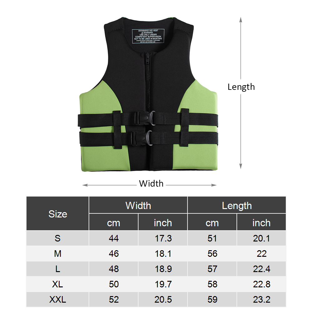 Image 5 - Neoprene Fishing Life Jacket Watersports Kayaking Boating Drifting Safety Life Vest Water Sports Safety Man Jacket XXL Size-in Fishing Vests from Sports & Entertainment