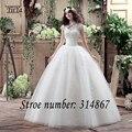 Free shipping YiiYa 2016 new cheap white wedding gowns frocks High callor wedding dress princess lace Vestidos De Novia XXN115
