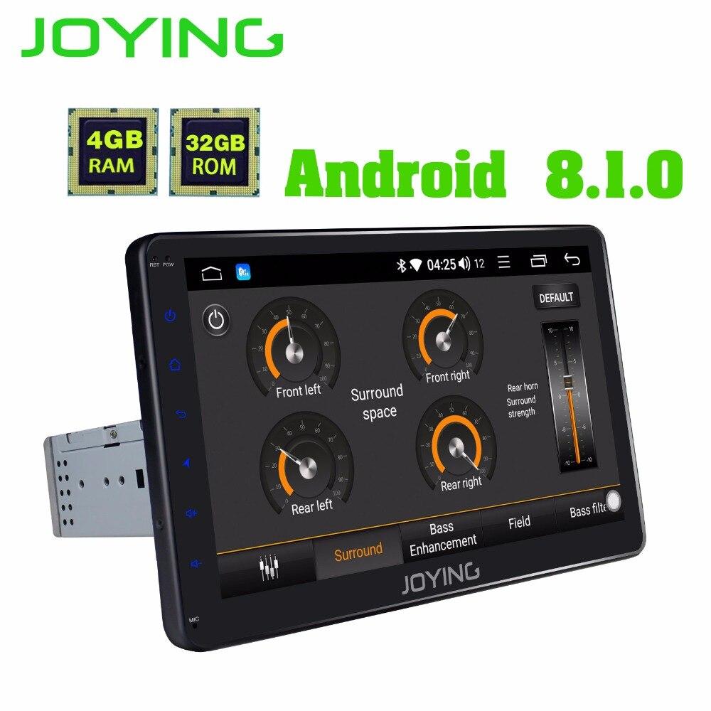 JOYING 4 GB RAM 32 GB ROM unique 1 din 10 pouces 8 Core Android 8.1 autoradio autoradio stéréo BT FM HD Lecteur Soutien Apple-Carplay