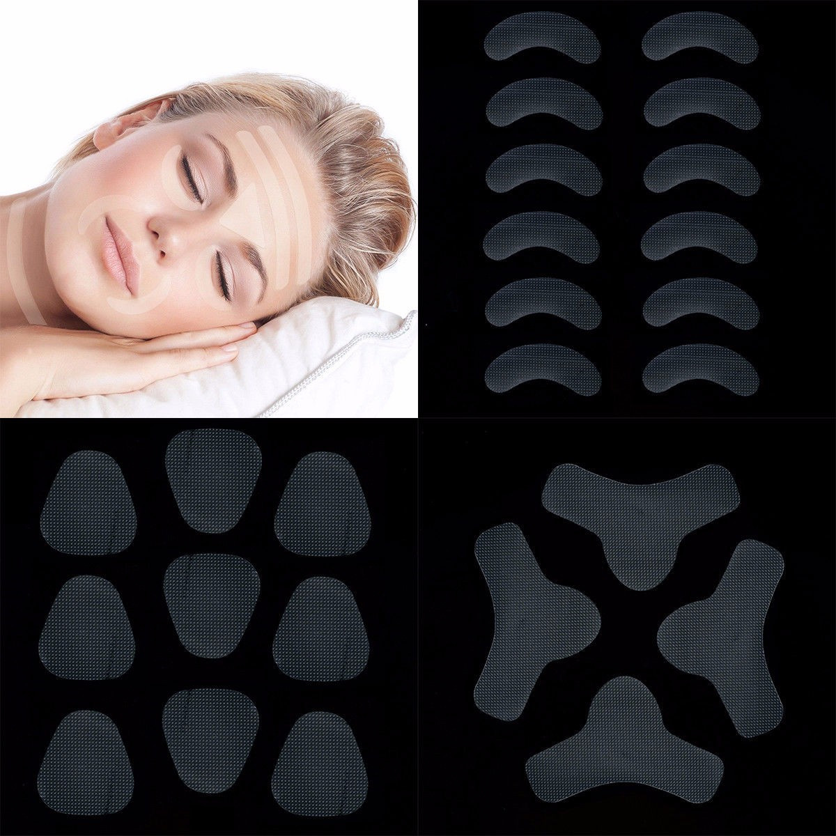 27/24/12pcs Face Lift Up Tape Sticker V Mask V Face Shape Artifact Invisible Sticker Lift Chin Wrinkle Sagging Make Up Tools