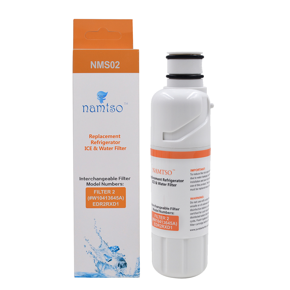 US $19 63 |Namtso Filter 2 Refrigerator Water Filter Replacement PUR for  Whirlpool EveryDrop W10413645A EDR2RXD1 NMS02 Refregerator fFilter-in Water