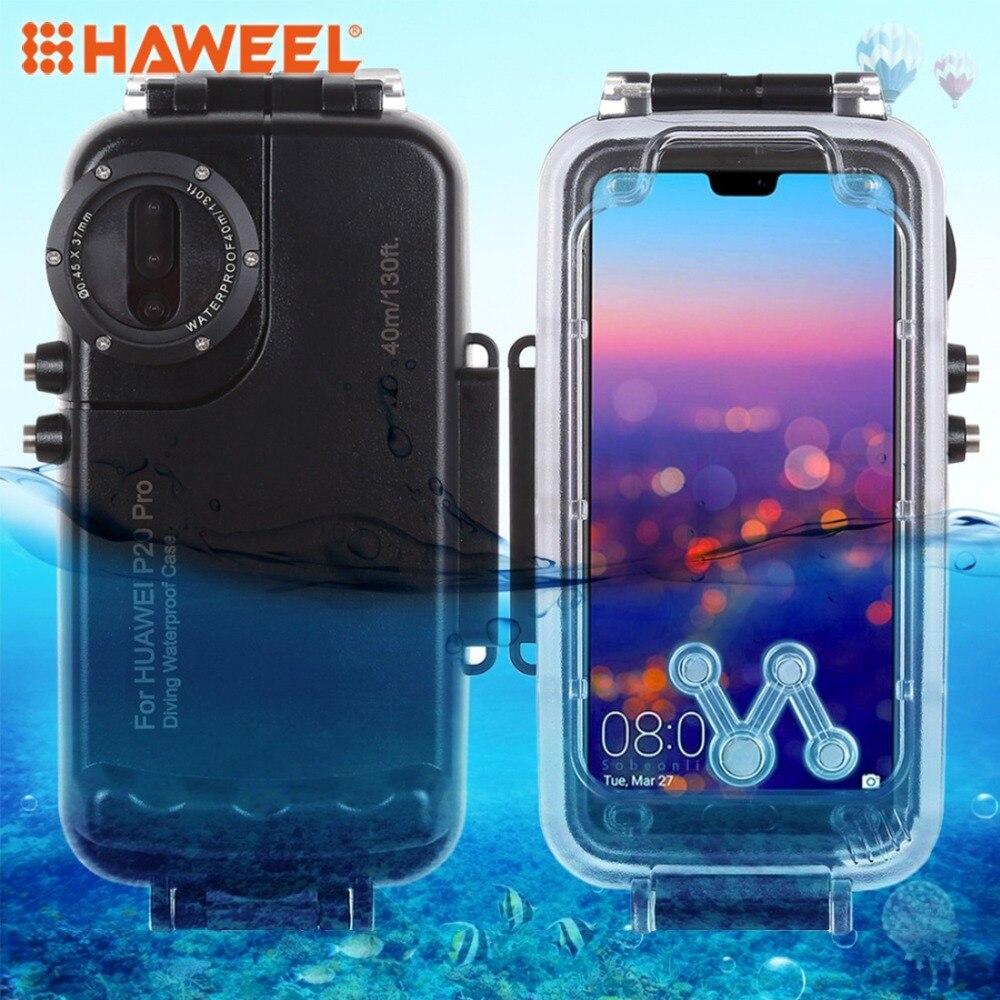 HAWEEL 40 m/130ft boîtier de plongée étanche Photo vidéo prenant étui pour huawei P20 Pro
