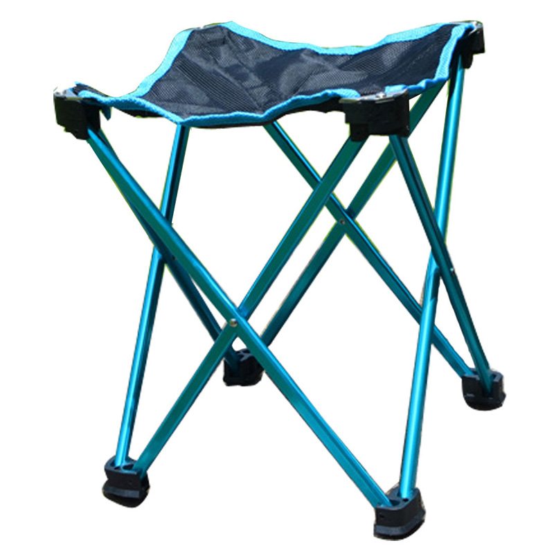 New Folding Stool Aluminium Alloy Mini Ultralight Portable Seat Outdoor Sport Camping Tr ...