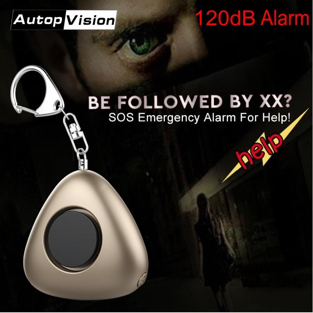 Wholesale 120dB SOS Alarm Keychain With LED Flashlight Mini Self Defense Emergency Anti-Attack Anti-wolf Alarm For Women Kids