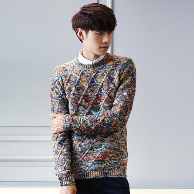 8da0a823 Mens Knitted Pullovers Man Autumn Winter Fashion Casual O Neck Slim  Knitwear Knitted Sweaters and Pullovers Jumper Teenager-in Pullovers from  Men's ...