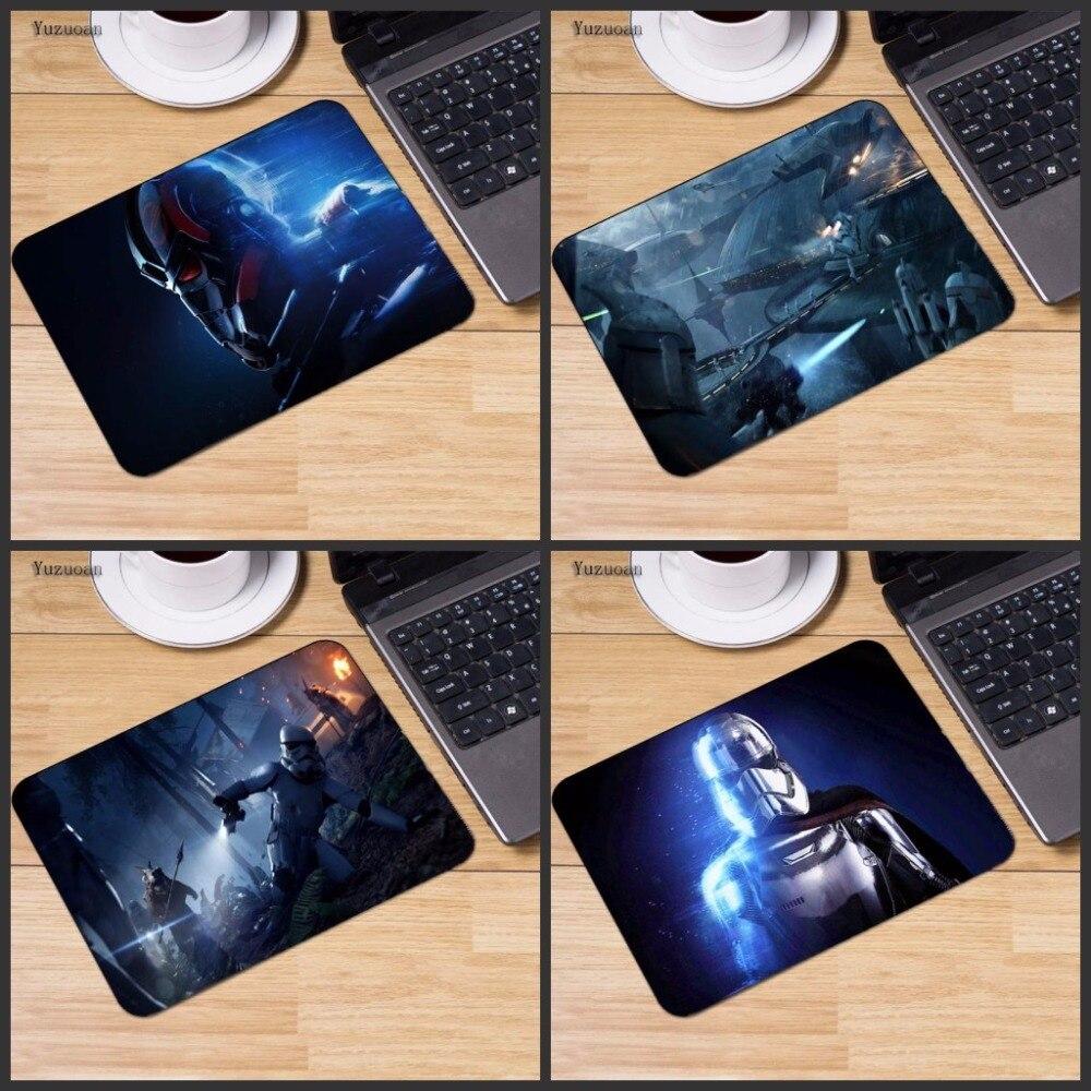 Yuzuoan Star Wars Battlefront пользовательские Дизайн Поддержка Прохладный игровой коврик резиновый коврики 18*22 см и 25*29 см и 25*20 см стол коврик