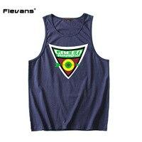Flevans 2017 Summer New Men Gyms Fitness Bodybuilding Tank Top Vest Green Arrow Print Male Fashion
