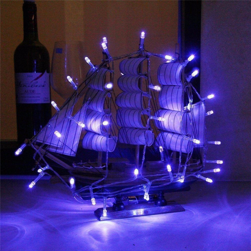 3AA Batteridriven LED-sträng Ljus 2M 3M 4M färgglada Xmas LED Fairy - Festlig belysning - Foto 3