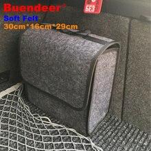 Buendeer органайзер для багажника из мягкого шерстяного войлока, 30*16*29 см, коробка для хранения автомобиля, сумка для хранения, противопожарная посылка для хранения, одеяло, инструмент