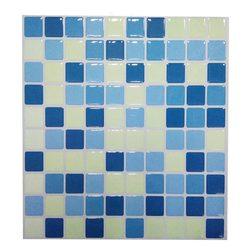 2019 Popular mosaico de madera azulejo de pared impermeable y extraíble pegatina de pared DIY tu cocina y baño