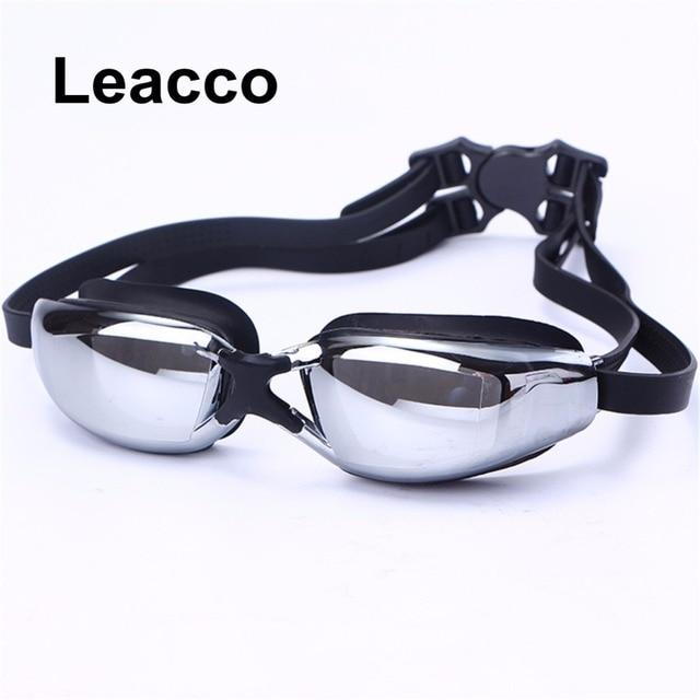 f5ab5047dd6 Waterproof Swim Glasses Eyewear Professional Electroplate myopia Brand  adult Men Women Anti Fog UV Protection Swimming