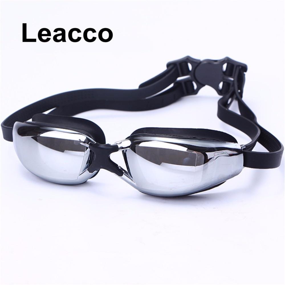 Egal Men Women Electroplate Waterproof Swim Glasses Anti Fog UV Protection Lens Goggles Beach Surfing Outdoor Eyewear