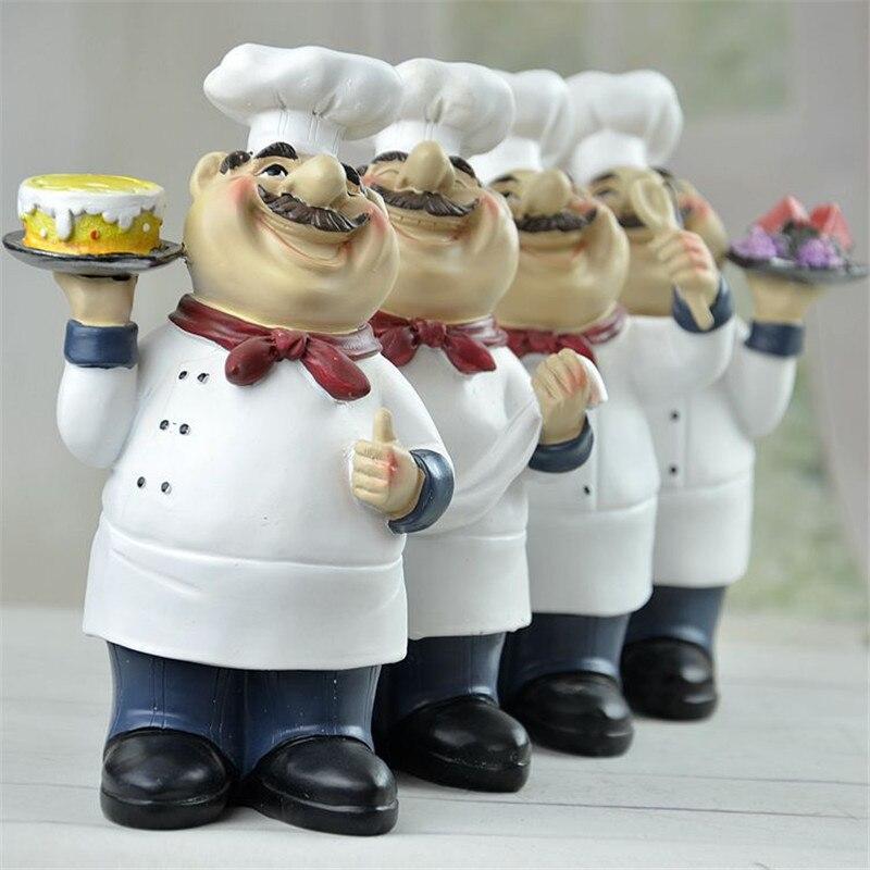 American Pastoral Modern Creative Chef Cartoon Figurines Decoration Western Restaurant Fashion Character Ornaments