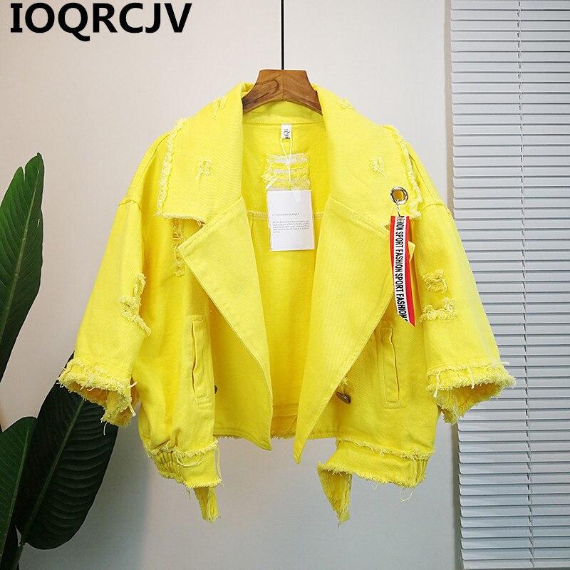 Pockets Women Denim Jacket Pole Female Loose Coat 2019 Autumn Winter New Cool Girl Outwear R830