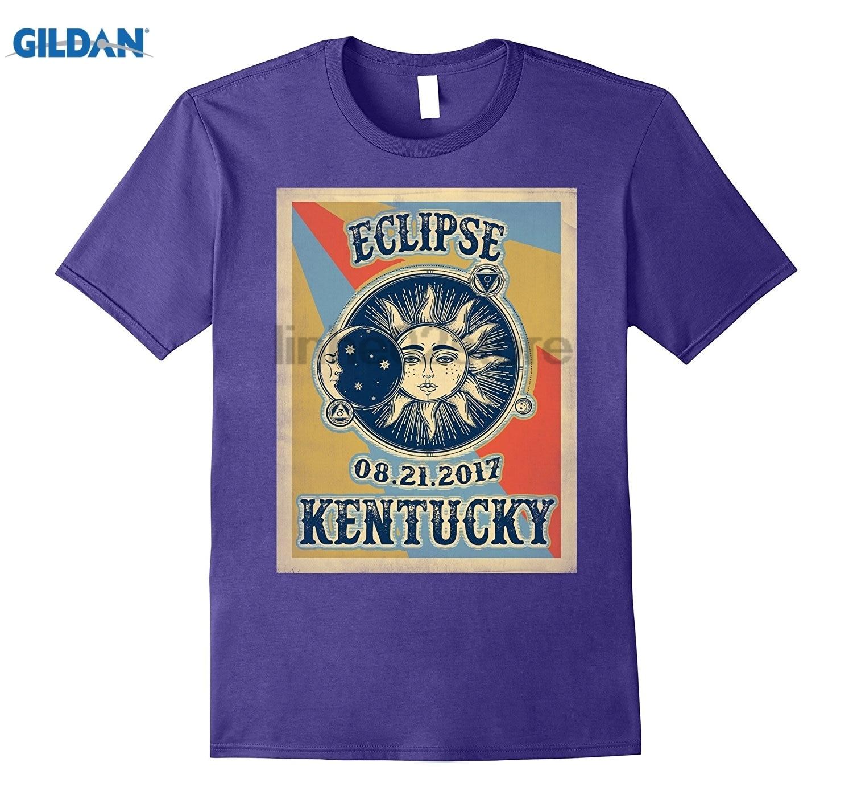 GILDAN Kentucky Vintage Solar Eclipse 2017 Tshirt Womens T-shirt