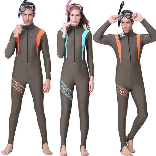 61d172265c Dive Sai dive skin wetsuit Lycra One Piece men women Jumpsuit diving suit  swimming Snorkeling Surf full body swimsuit
