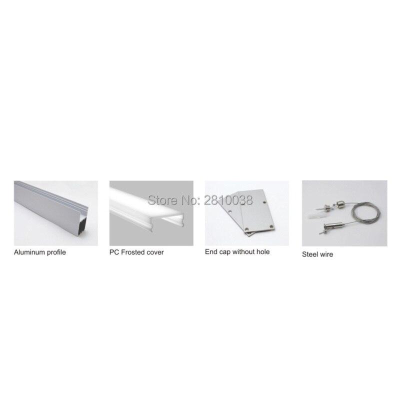 Conjuntos 50X2 mLot alumínio levou perfil luz