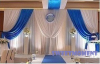3x3 m וילון חתונה לחתונה קישוט החתונה רקע נתיק Swag וילון עם כחול רויאל משלוח חינם לרוסיה