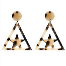 Геометрические акриловые смолы легкие звезды треугольной формы