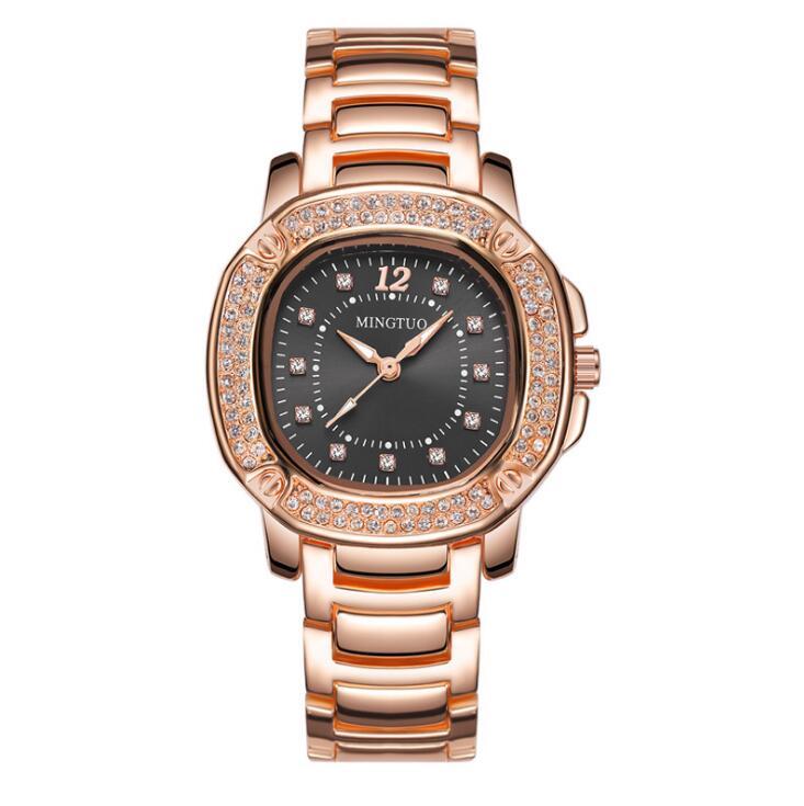 Luxe Dames Roségoud Horloge Merken Crystal Sliver Dial Fashion - Dameshorloges - Foto 5