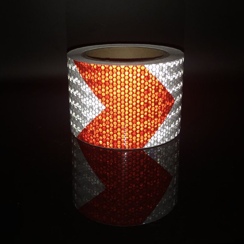 7.5cmx10m  High Quality Safety Reflective Warning Tape Conspicuity Film Sticker For Car