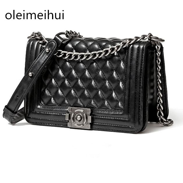 Diamond Lattice Luxury Handbags Women Bags Designer Lady Quilted Plaid Shoulder Crossbody Bags Leather Women Messenger Bag znakomity plaid stripe shoulder bag genuine leather quilted bags handbag diamond lattice leather quilted messenger crossbody bag