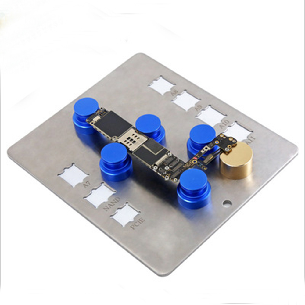 Universal Magnetic DIY Fixture PCB Board Movable Work Station Repair Tool for iPad iPhone A7 A8 A9 A10 A11 IC Android Hand Tools diyfix universal circuit board pcb holder jig fixture rotatable work station for iphone ipad android ic chip repair tool