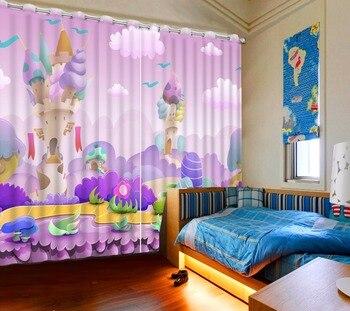 3D Curtain Photo Customize Size Cartoon Theme Park Curtains For Bedroom Curtains For Living Room Decorative Curtain