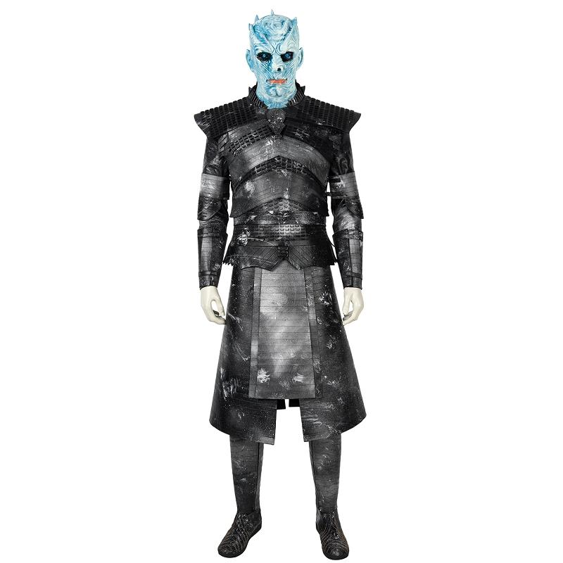 Game Of Thrones 8 Costume Night's King Cosplay The White Walker Commander Soldier Suit Shoes Men Halloween Carnival Props Outfit