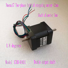 цены Double Shaft Stepper Motors 42mm Motors Nema 17 Motor 1.7A 17HS4401B