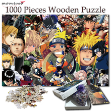 MOMEMO Wooden Anime Naruto Jigsaw Puzzle 1000 Pieces Adult Cartoon Pattern Puzzle Games 1000 Pieces Puzzles for Children Toys цена 2017