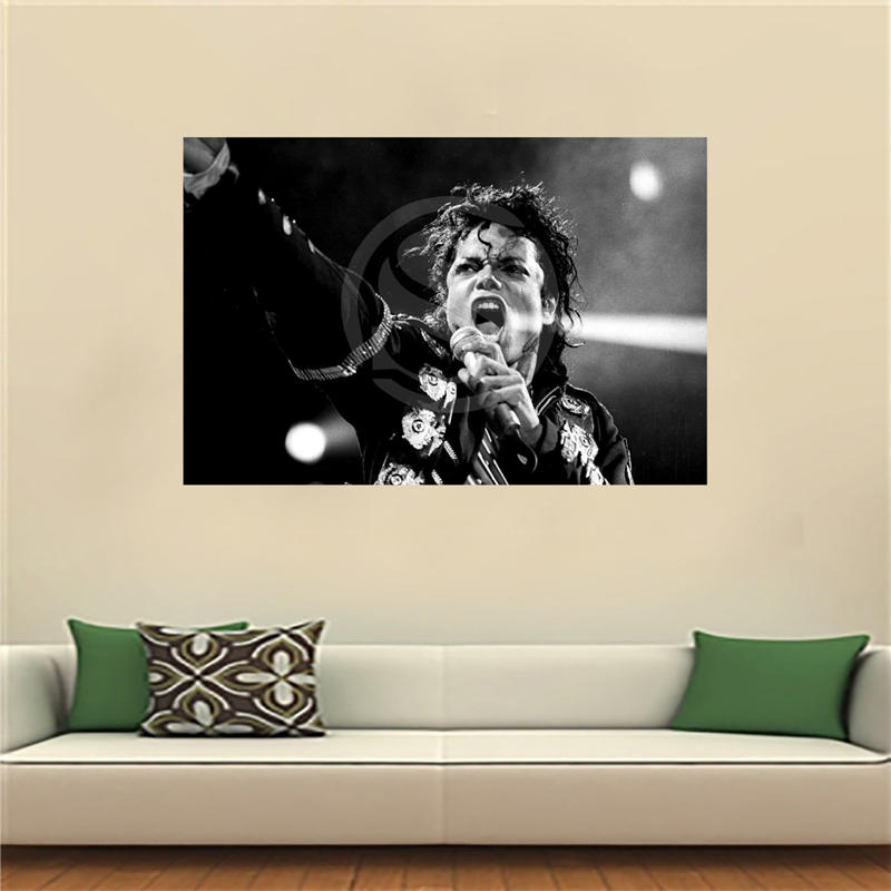 LF516JY79 Custom Michael Jackson  Canvas Painting Wall Silk Poster cloth print DIY Fabric Poster JY62