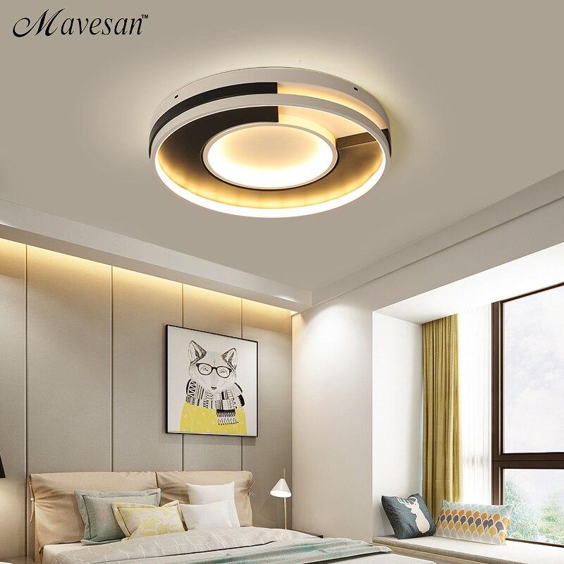 White Black Modern led Ceiling Lamp for Living Room Bedroom Study Room Led Ceiling Lights lampara de techo AC85V-260V все цены