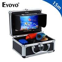Eyoyo Original 7 Professional Underwater Fishing Camera White Light Controllable Fish Finder 1000TVL HD 15M Cable