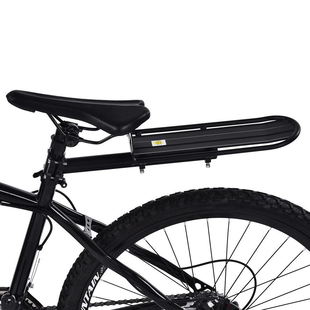 Back Rear Bag Pannier Rack Alloy Bike Bicycle Seat Post Frame Carrier Holder New