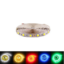 5m RGB 5050 LED Strip 12v Flexible light rope neon tape waterproof white warm red blue Holiday decoration Super bright(China)