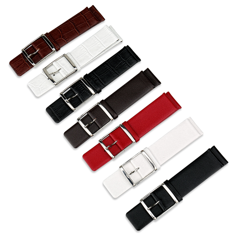 MAIKES Luxury Red Genuine Leather Watch Strap Soft High Priced CK Watch Accessories Watch Bands For Calvin Klein Watch Band in Watchbands from Watches