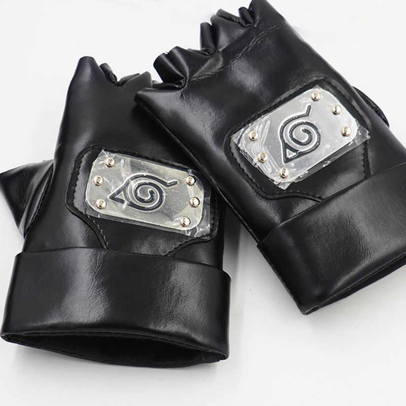 Наруто Косплей перчатка из искусственной кожи Uzumaki Наруто Учиха Саске перчатки реквизит Наруто косплей аниме оружие сюрикен держатель для мелочей